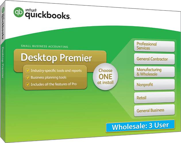 2018 Intuit QuickBooks Desktop PREMIER Wholesale Version 3 User