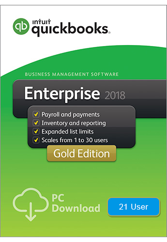 2018 QuickBooks Enterprise Gold 21 User