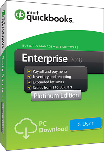 2018 QuickBooks Enterprise Platinum 3 User