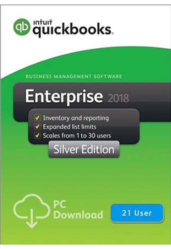 2018 QuickBooks Enterprise Silver 21 User