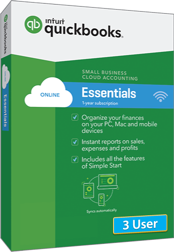 2018 QuickBooks Online Essentials 3 User