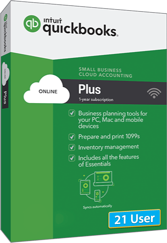 2018 QuickBooks Online Plus + QBO 21 User