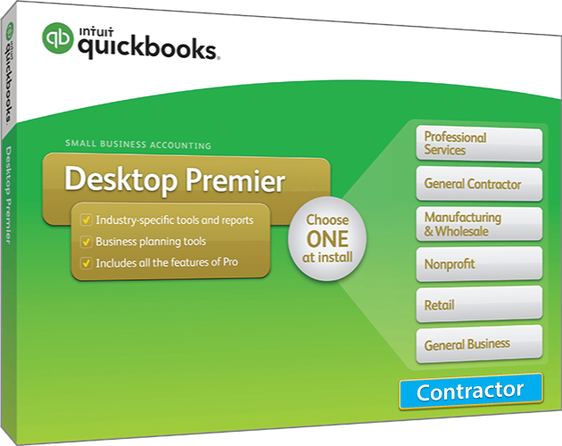 2018 Intuit QuickBooks Desktop PREMIER General Contractor Version
