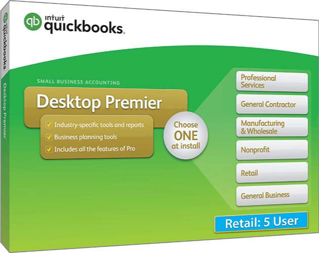 Upgrade & Download 2018 Intuit QuickBooks Desktop PREMIER Retail Version 5 User