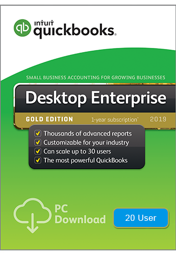 2019 QuickBooks Enterprise Gold 20 User