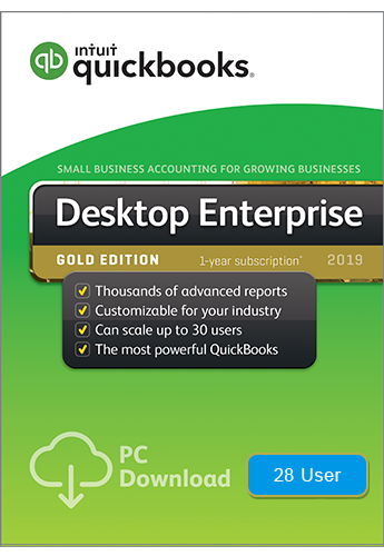 2019 QuickBooks Enterprise Gold 28 User
