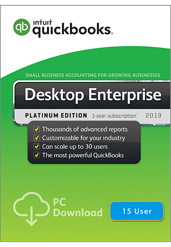 2019 QuickBooks Enterprise Platinum 15 User