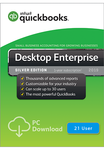 2019 QuickBooks Enterprise Silver 21 User