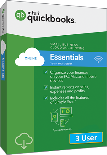 2019 QuickBooks Online Essentials 3 User