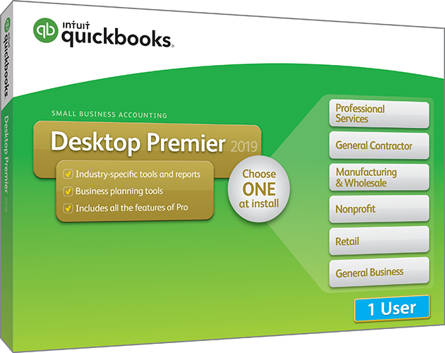 2019 Intuit QuickBooks Desktop PREMIER Version 1 User
