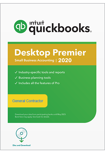 2020 Intuit QuickBooks Desktop PREMIER General Contractor Version