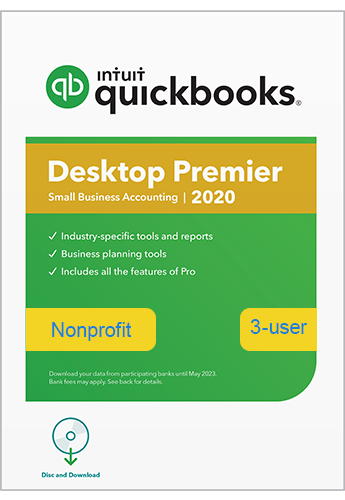 Upgrade & Download 2020 Intuit QuickBooks Desktop PREMIER Non Profit Version 3 User