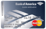 Bank of America Cash Rewards for Business MasterCard credit card